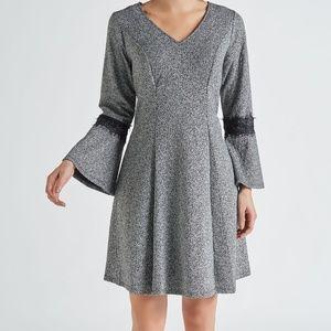Lace Knit A-line Dress